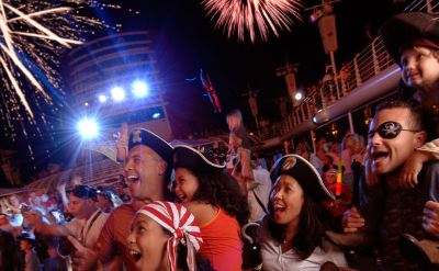 Disney Magic pirate deck party
